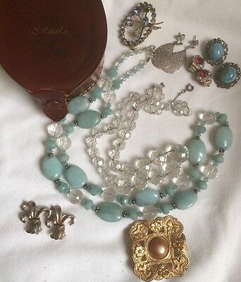 Job Lot Antique Vintage Collectibles Jewellery Bits And Bobs Art Deco
