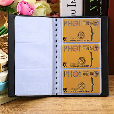 120 Sheets Business Name ID Bank Credit Cards Holder Book Case Organizer#DB