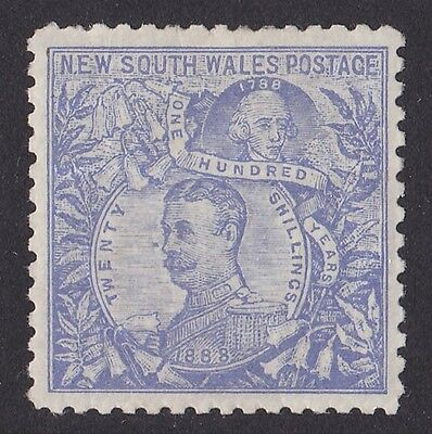 NEW SOUTH WALES 1890 Carrington 20/- Perf 11 SCARCE TOP VALUE !