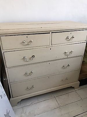 Old Pine Painted Chest Of Drawers - Petersfield