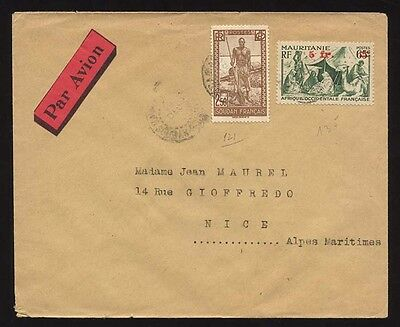 French Suuudan - Mauretania combination airmail cover to  France