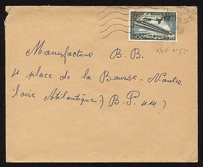 Ivory Coast 1958 cover to France