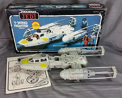 Vintage Star Wars Kenner Y-Wing Fighter Complete With Insert & Instructions!
