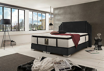 boxspringbett bett hotelbett ehebett designerbett doppelbett king size 160x200 eur. Black Bedroom Furniture Sets. Home Design Ideas