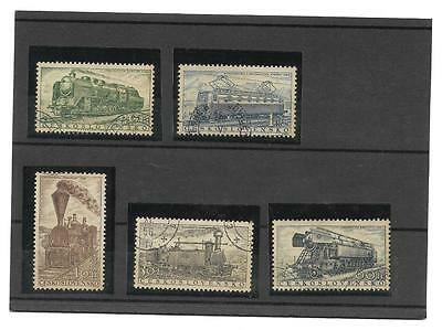 Timbres TRAINS TCHECOSLOVAQUIE