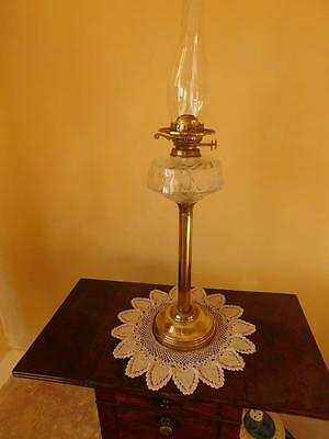 Edwardian Duplex Brass Oil Lamp ~ Now 10% Off