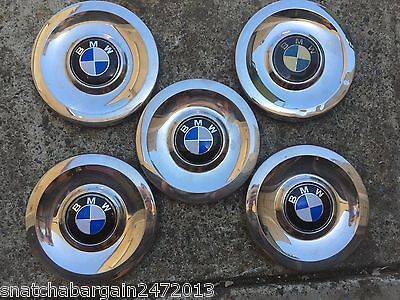 Genuine Bmw Vintage 1960's 1970's Original Hub Caps Wheel Covers Full Set Of 5