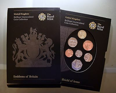 The Royal Mint United Kingdom Royal Shield Of Arms Uncirculated Coin Collection