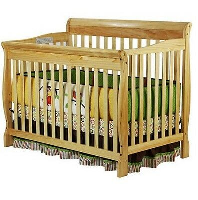 Convertible Crib 5-in-1 Fixed-Side Toddler Bed Furniture Bedroom Nursery Baby