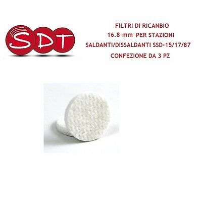FILTERS OF RICANBIO 16.8 mm PER STATIONS SOLDERS/DESOLDERING SSD-15/17/87 PACK