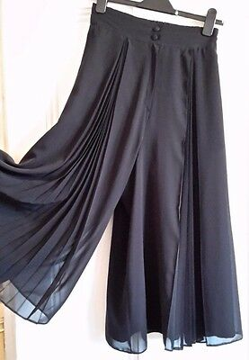 Vintage AFTER FIVE By Jean Claire Black Chiffon Culottes - 10
