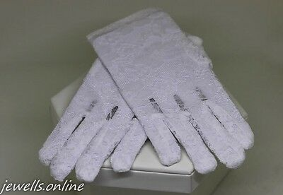 White Lace Gloves Confirmation First Holy Communion Bridesmaid Accessories
