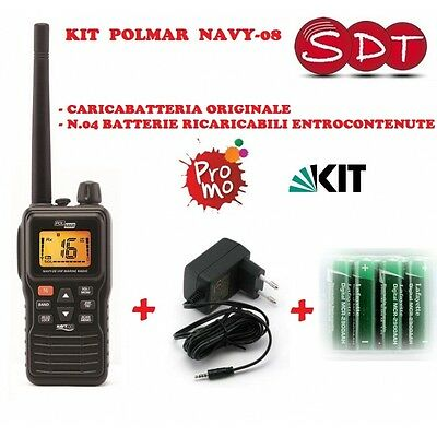 Navy-08 Transmitter Receiver Portable Vhf Nautical+Battery Charger Original + 4