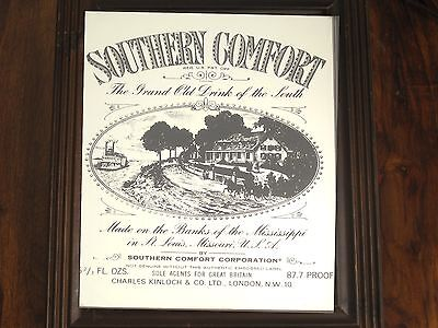 Southern Comfort The Grand Old Drink Of South Made On The Banks Of The Mi.