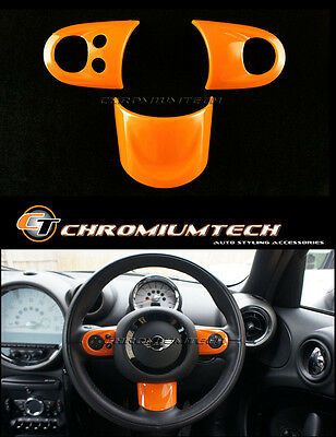 MK2 MINI R55 R56 R57 R58 R59 R60 R61 ORANGE Multi Function Steering Wheel Cover