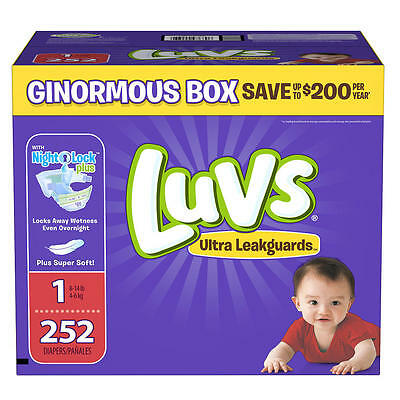 Luvs Ultra Leakguards Newborn Size 1 Disposable Diapers - 252 Count