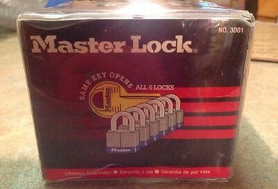 Lock Set By Master (Lot of 6) KEYED ALIKE Large 2 In-# 3001-Body Carbide Magnum