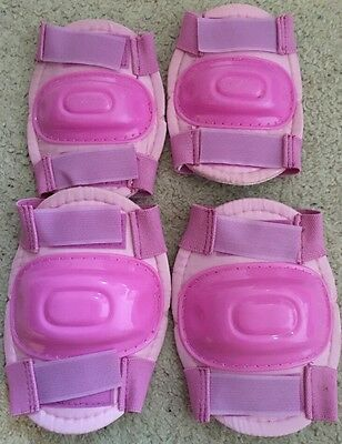Girls Protective Knee And Elbow Pads Pink