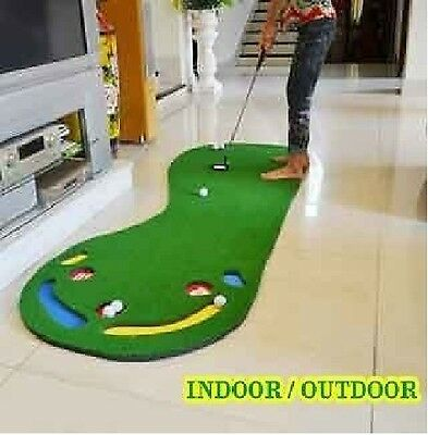 Big Feet Indoor Outdoor Golf Putting Practice Mat Putting Trainer Fabric Lawn!