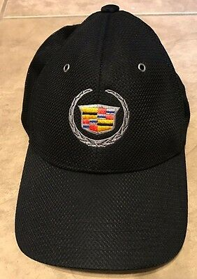 Official GM Cadillac Baseball Hat Cap Black 1 size fits all Embroidered logo