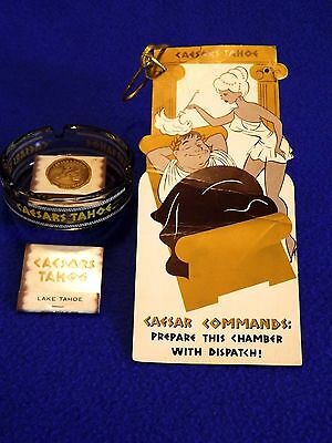 CAESARS TAHOE Ashtray, Matches, Room Sign ~ Do Not Disturb - Prepare The Chamber