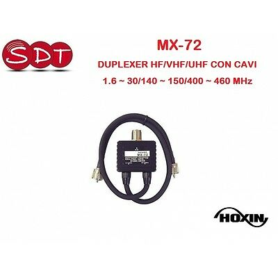 MX-72 DUPLEXER HF/VHF/UHF CON CABLES 1.6 ~ 30/140 ~ 150/400 ~ 460 MHz