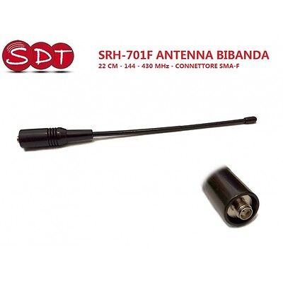 SRH-701F ANTENNA DUAL BAND PER PORTABLE 22 CM 144 - 430 MHz - CONNECTOR SMA-F