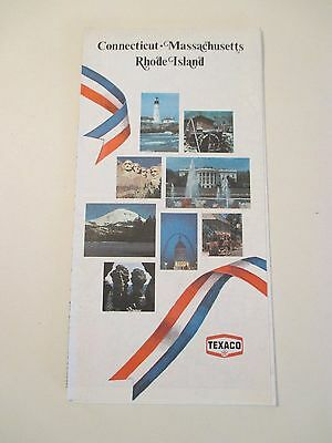 Vintage TEXACO CONN MASS RI Oil Gas Station State Road Map~1976 Edition