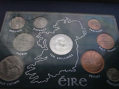 Eire/Ireland Pearse UNC coin set 1966