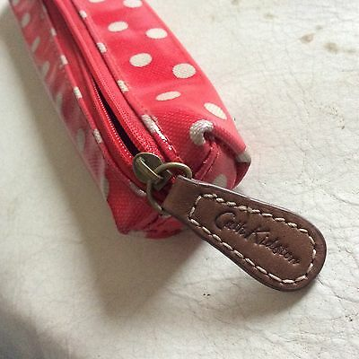 Cath Kidston Slim Red Dot Pencil Case Wipe Clean With Zip