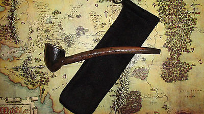"""8"""" Sir William W.  Pocket Pipe And Pouch & Lord Of The Rings Card Hobbit Gandalf"""