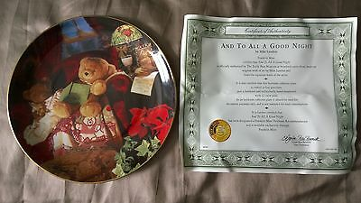 Franklin Mint - And To All A Good Night - Limited Edition Ornamental Plate