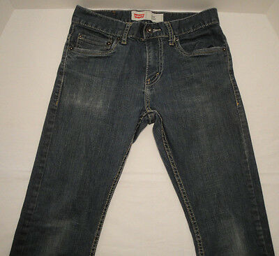 LEVIS Boys 511 Slim Jeans Denim Blue Size 14 27 x 27 Medium Wash Pants Teen