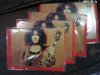 T. REX Marc Bolan Greetings Cards x 4