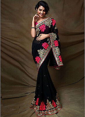 Pakistani Indian Bollywood Ethnic Designer saree Bridal Traditional New sari 223