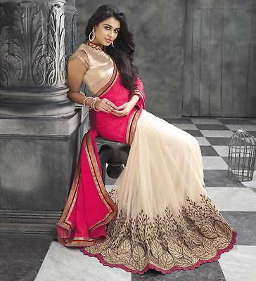 Pakistani Indian Bollywood Ethnic Designer saree Bridal Traditional New sari 222
