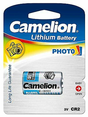 2 X Cr2 Photo Battery Lithium 3V Branded Camelion