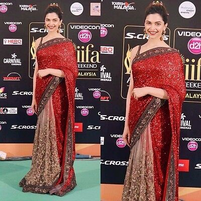 Pakistani Indian Bollywood Ethnic Designer saree Bridal Traditional New sari 220