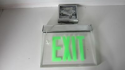 Philips Lightolier Edgelit Hanging Exit Sign Green, Clear EX Series