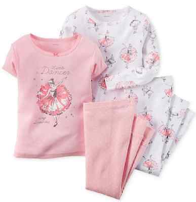 Carter's Baby Girls' 4-Piece Ballerina Pajamas, Size 6 Months, MSRP $34
