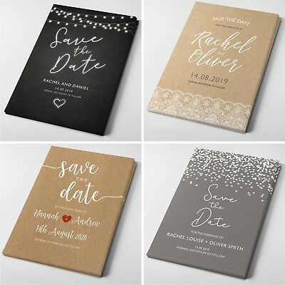 Personalised Wedding Save the Date Cards with Envelopes