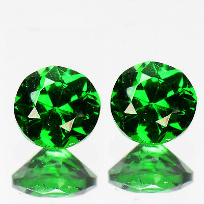 0.40Ct EXCLUSIVE GRADE Gem - Natural Russian Emerald CHROME DIOPSIDE 3.50mm ZT21