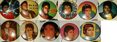 Michael Jackson, King of Pop, vintage pin badges. 11 to pick from