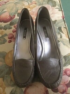 Ecco dstressed leather grey shoes size 39