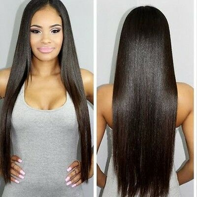 EURASIAN 300g STRAIGHT A*** LUXURY Real Virgin Human Hair Extensions 7A Weave