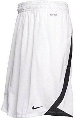 Nike Mens Alley Hoop Dri Fit Basketball Shorts White Black New S 330906-100