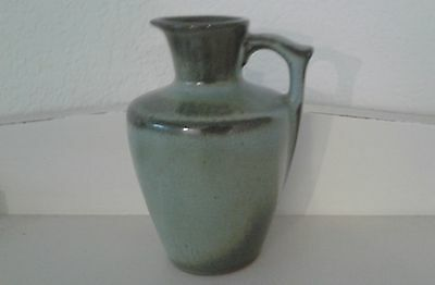 Frankoma pottery small pitcher 838 prairie green VINTAGE 1960's 5.25 inches tall