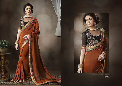 Pakistani Indian Bollywood Ethnic Designer saree Bridal Traditional New sari 210