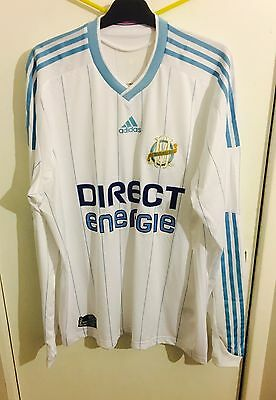 Marseille Player Issue Home Jersey by Adidas (Size Large)