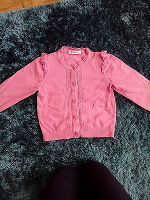 girls pink cardigan 5/6 years george good condition